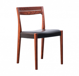 Swedish Rosewood Set of 2 Dining Chairs by Svegards Markaryd