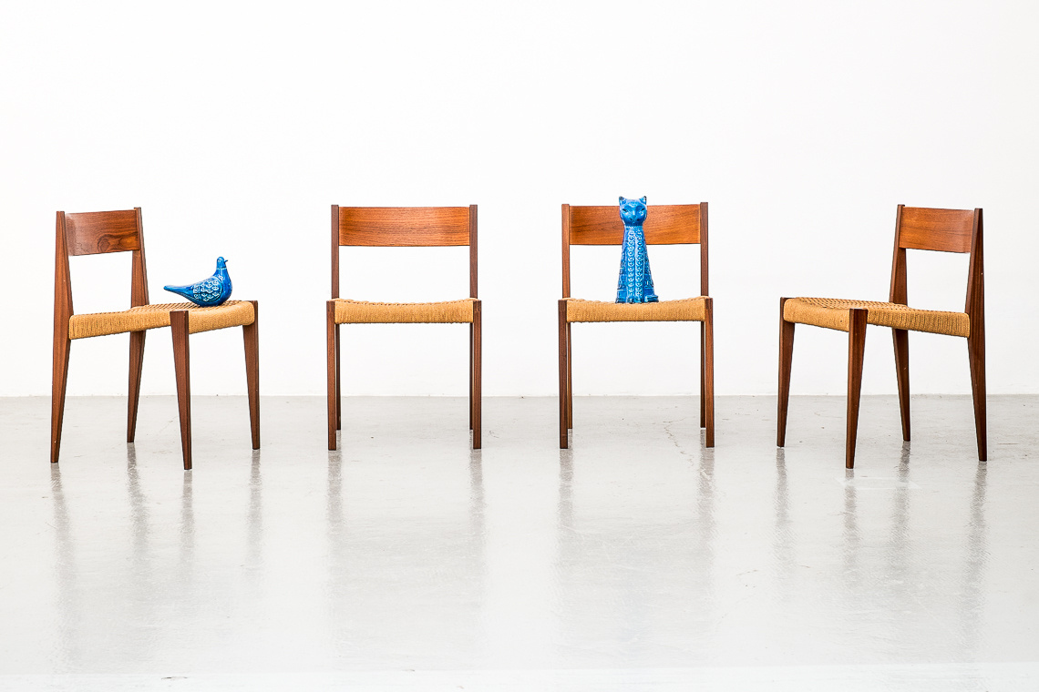 Set of 4 Dining Chairs PIA by Poul Cadovius