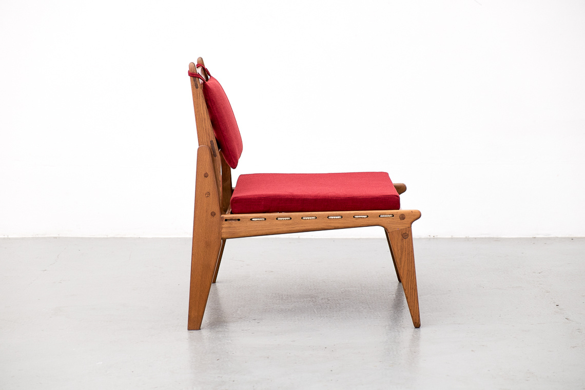 Mid-Century Lounge Chair & Ottoman from DWH, 1950s