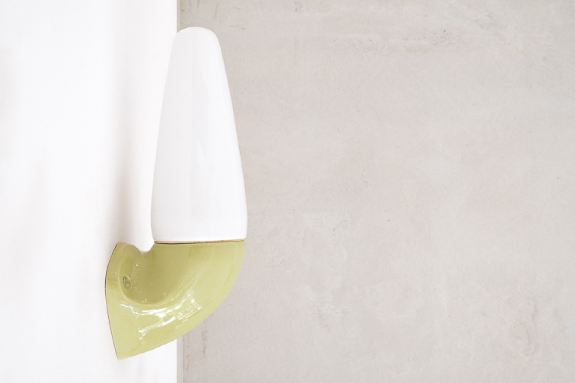 Porcelain and Glass Sconce by Sigvard Bernadotte for Ifö