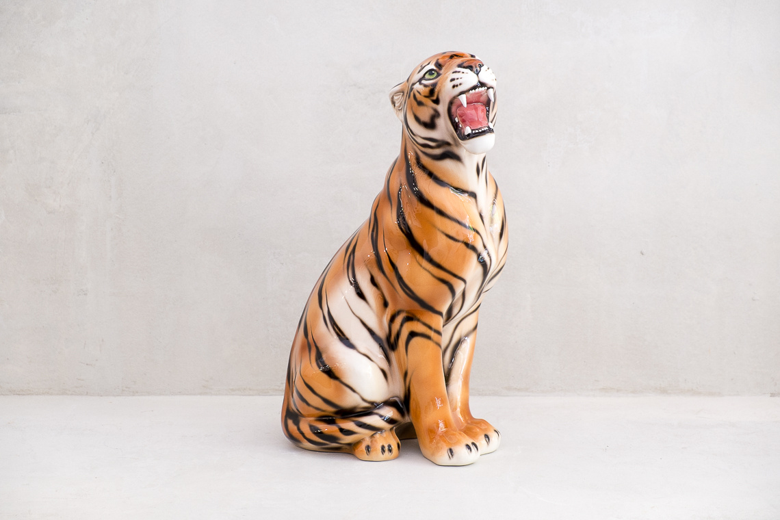 Tiger (61CM) Italian Ceramic Sculpture