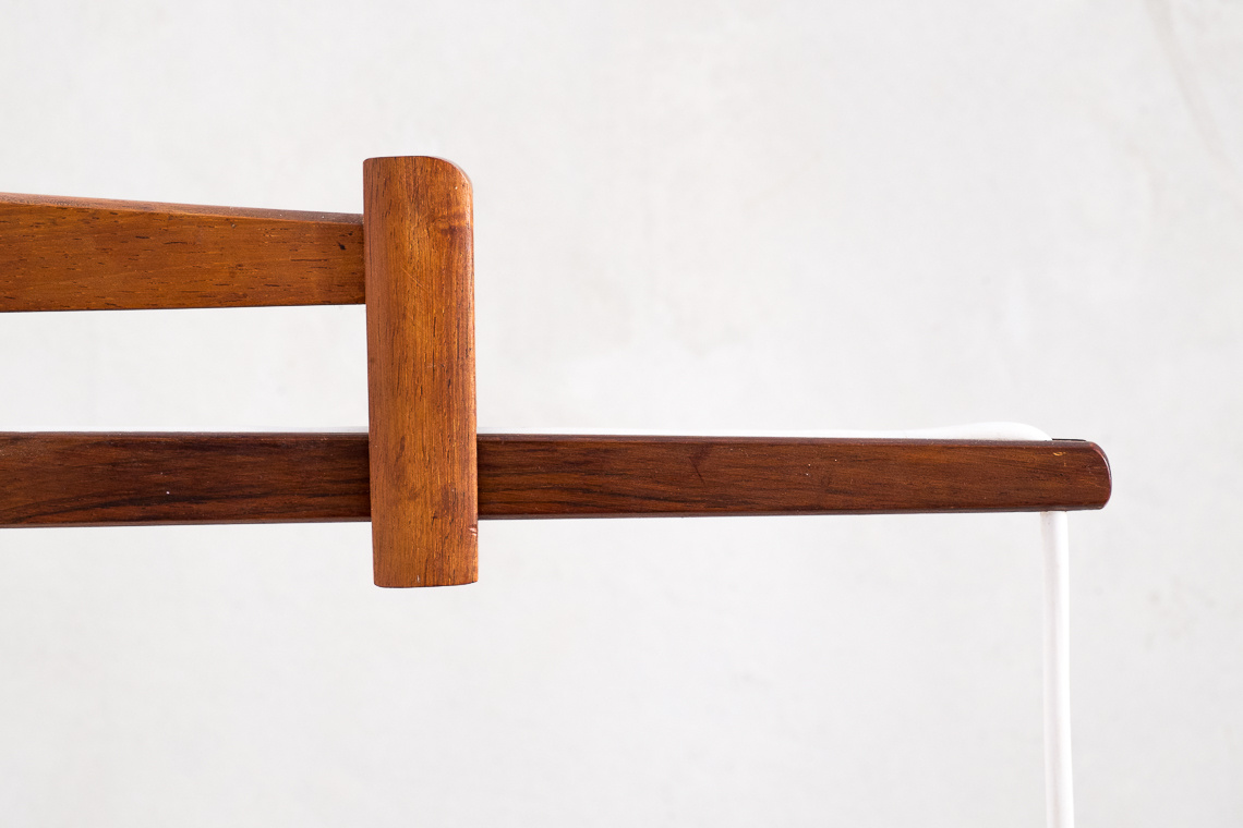 Mid-Century Danish Adjustable Teak & Glass Wall Lamp