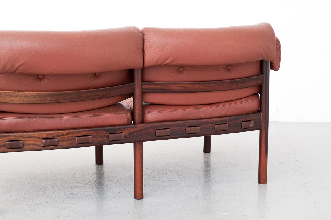 Leather Sofa 2 Seater by Arne Norell for Coja