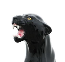 Giant panther (93CM) ITALIAN CERAMIC SCULPTURE