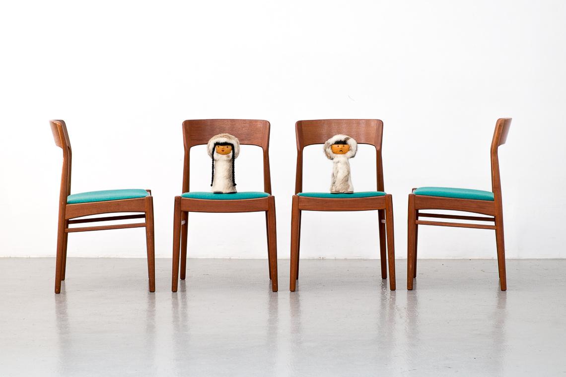 Teak Dining Chairs by Kai Kristiansen for Korup Stolefabrik, 1960s, Set of 4
