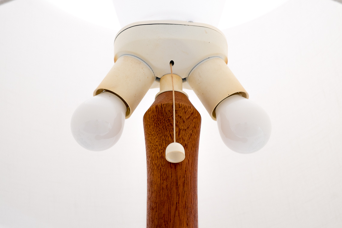 Big Danish Teak Table Lamp from Dyrlund