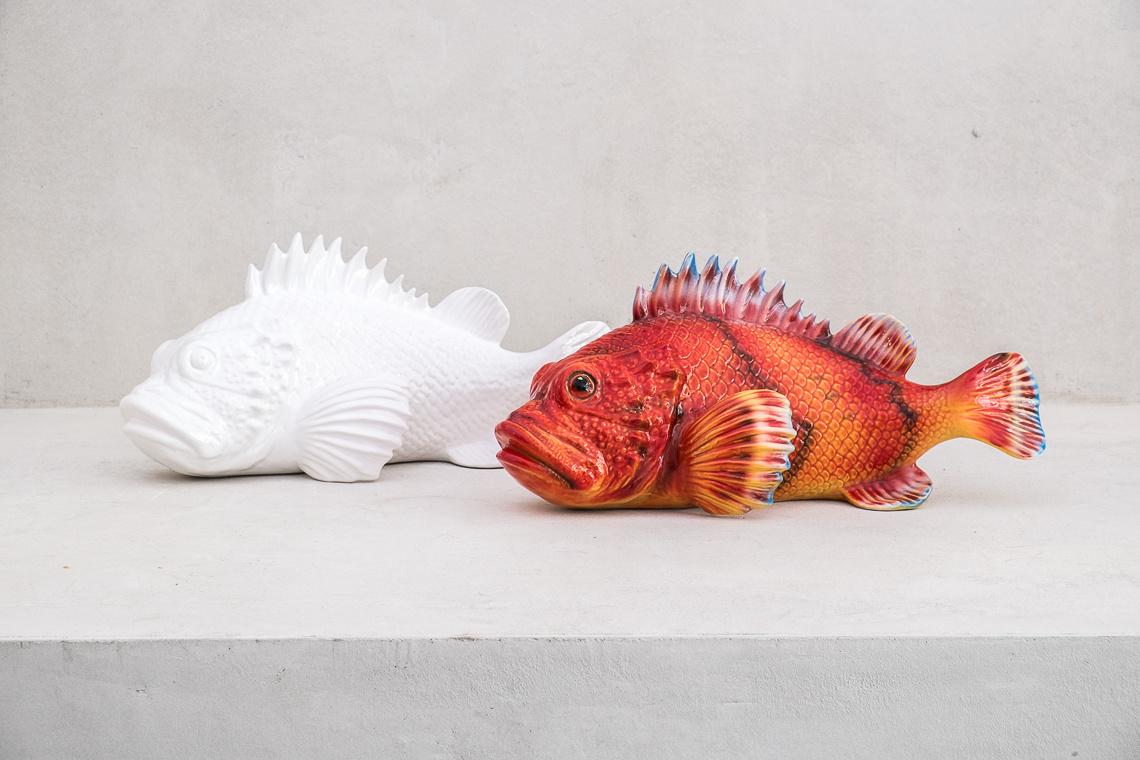 red scorpionfish Ceramic Italy Sculpture