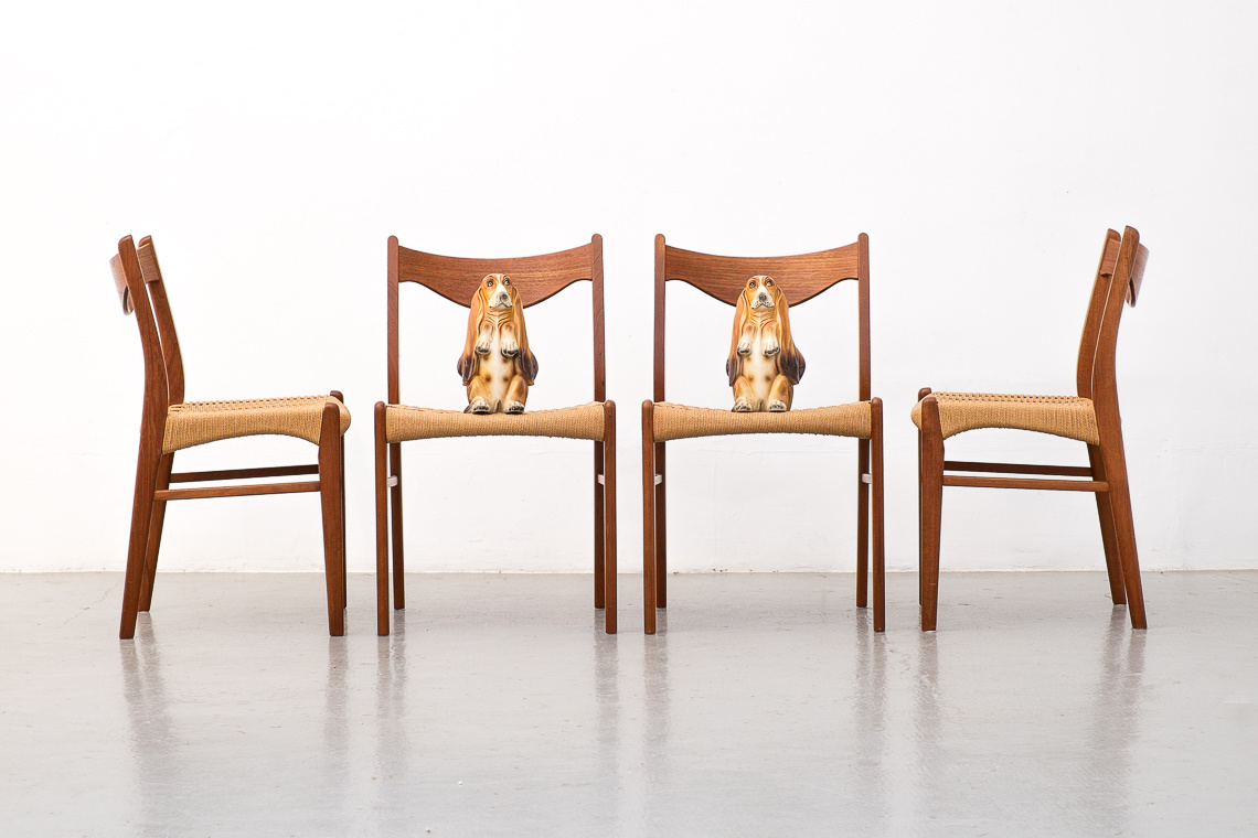 Set of 4 Dining Chairs GS60 by Arne Wahl Iversen for Glyngøre Stolefabrik