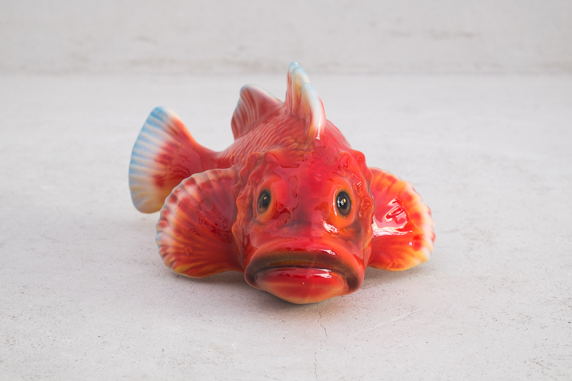 red scorpionfish (10x18cm) Ceramic Italy Sculpture
