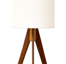 Scandinavian Tripod teak floor lamp