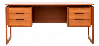 Dyrlund Floating Top Teak Executive Desk
