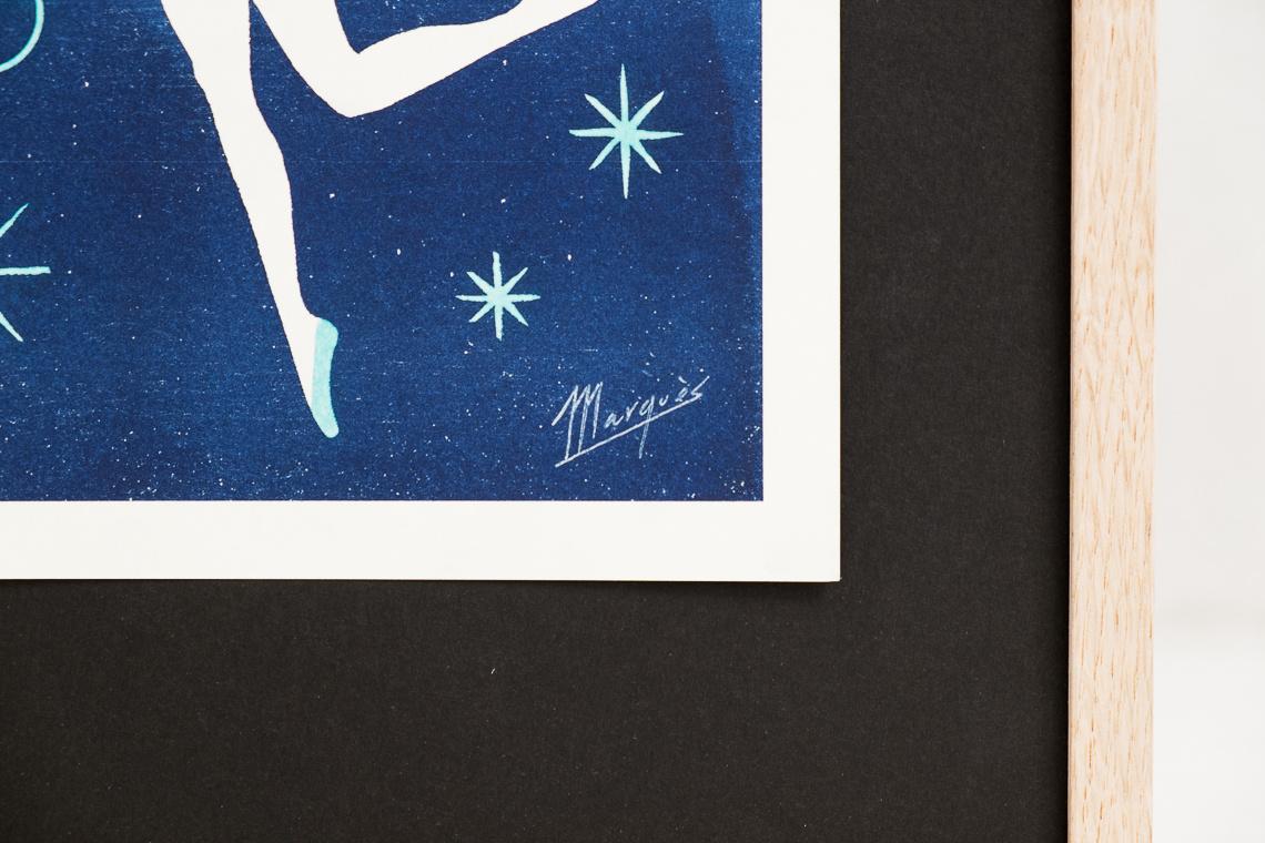 Risography Fire Dancer by El Marquès