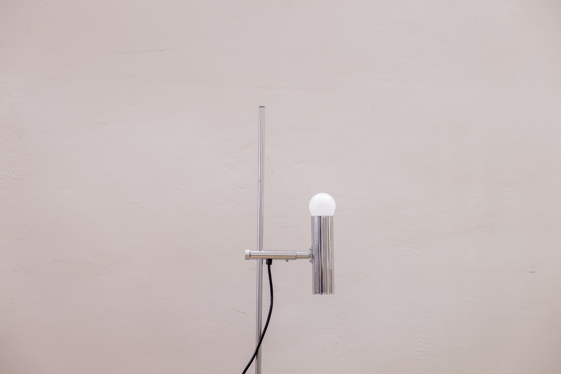 Chrome table lamp of STAFF