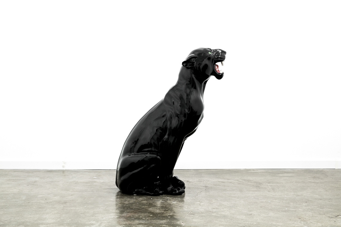 Giant panther (93CM) ITALIAN CERAMIC SCULPTURE