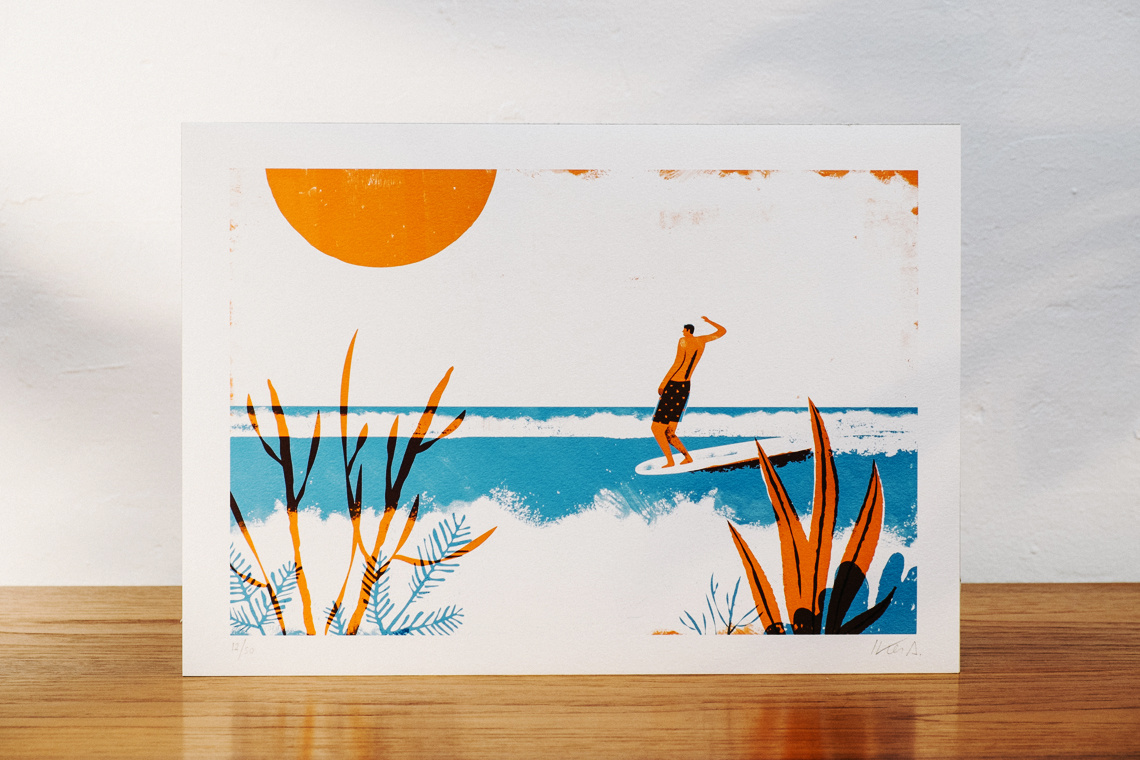 Art Print SURF by Iker Ayestaran