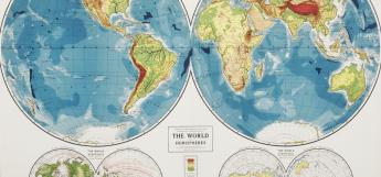 WORLD hemisphere MAP