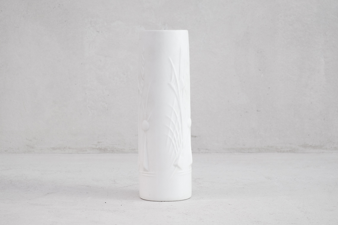 PORCELAIN biscuit VASE BY PORCELANA SCHMIDT MADE IN BRAZIL