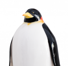 Emperor penguin (80CM) ITALIAN CERAMIC SCULPTURE
