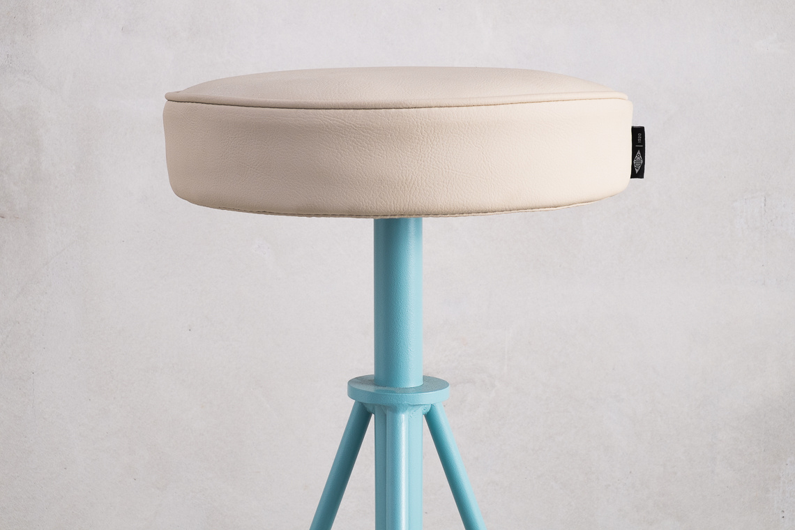HIGH STOOL 274B leather & METAL BY ADICO