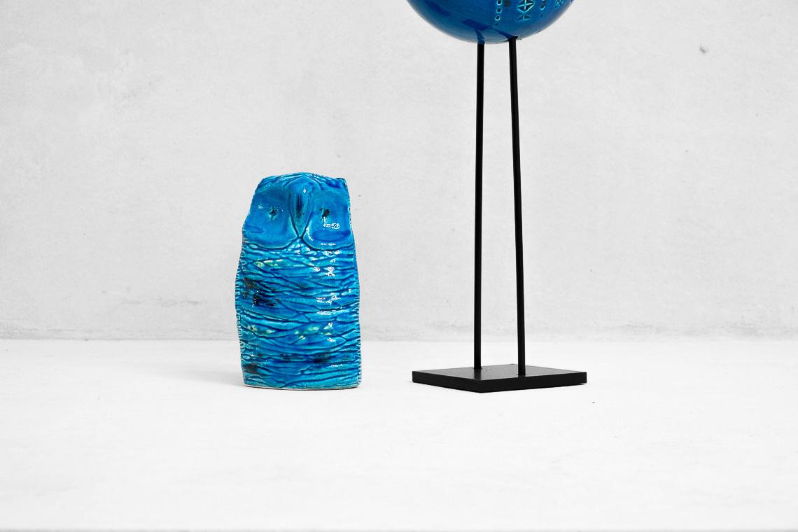 Owl from Rimini Blue Series by Aldo Londi for Bitossi
