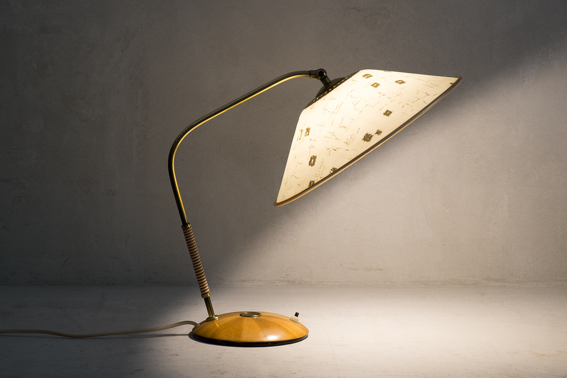 mid century Modern TABLE LAMP FROM TEMDE AG