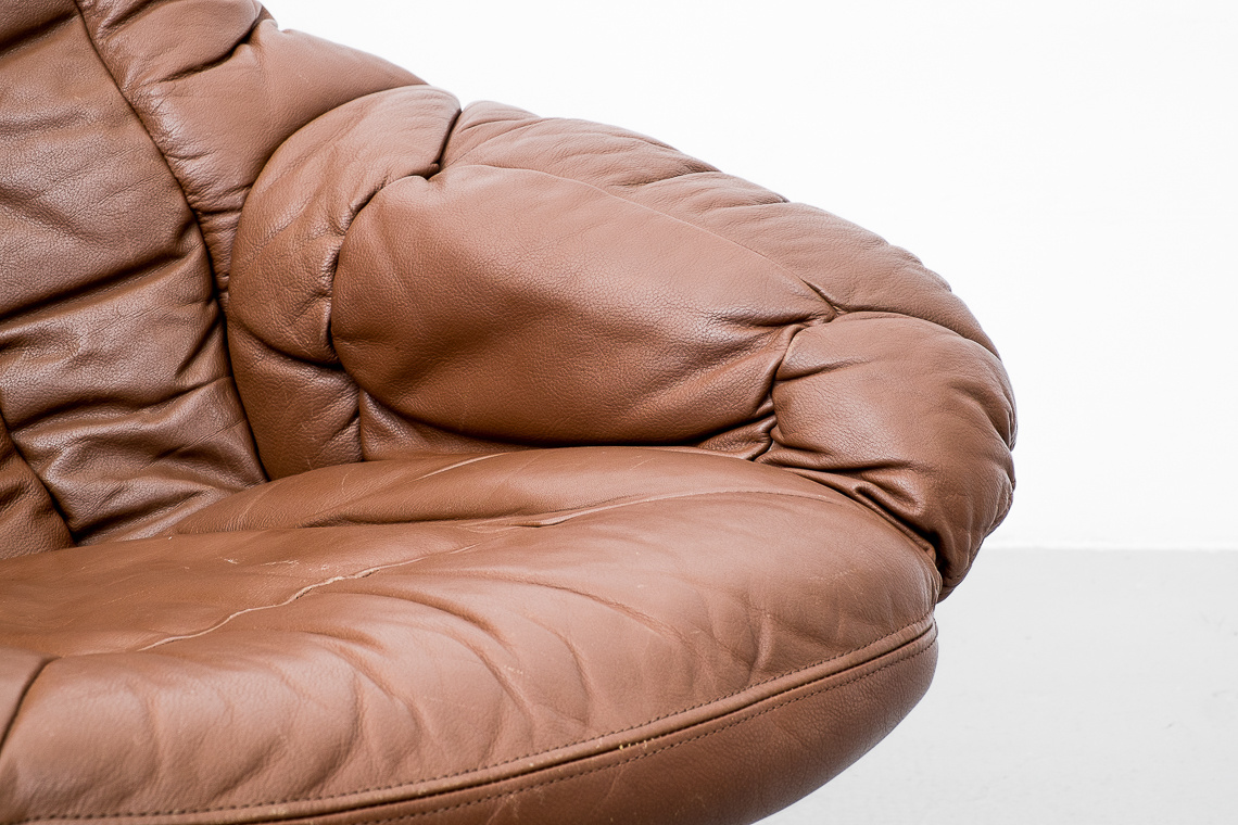 Leather Armchair by H.W. Klein for Bramin