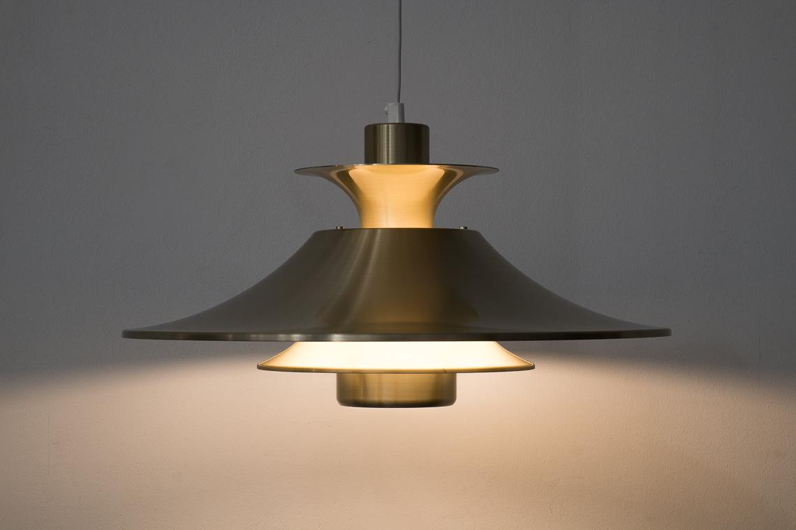 Danish Golden Ceiling Lamp from Lyskaer Belysning