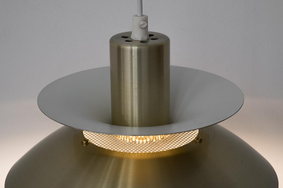 Danish Brass Hanging Lamp MODEL 744P from Top Lamper