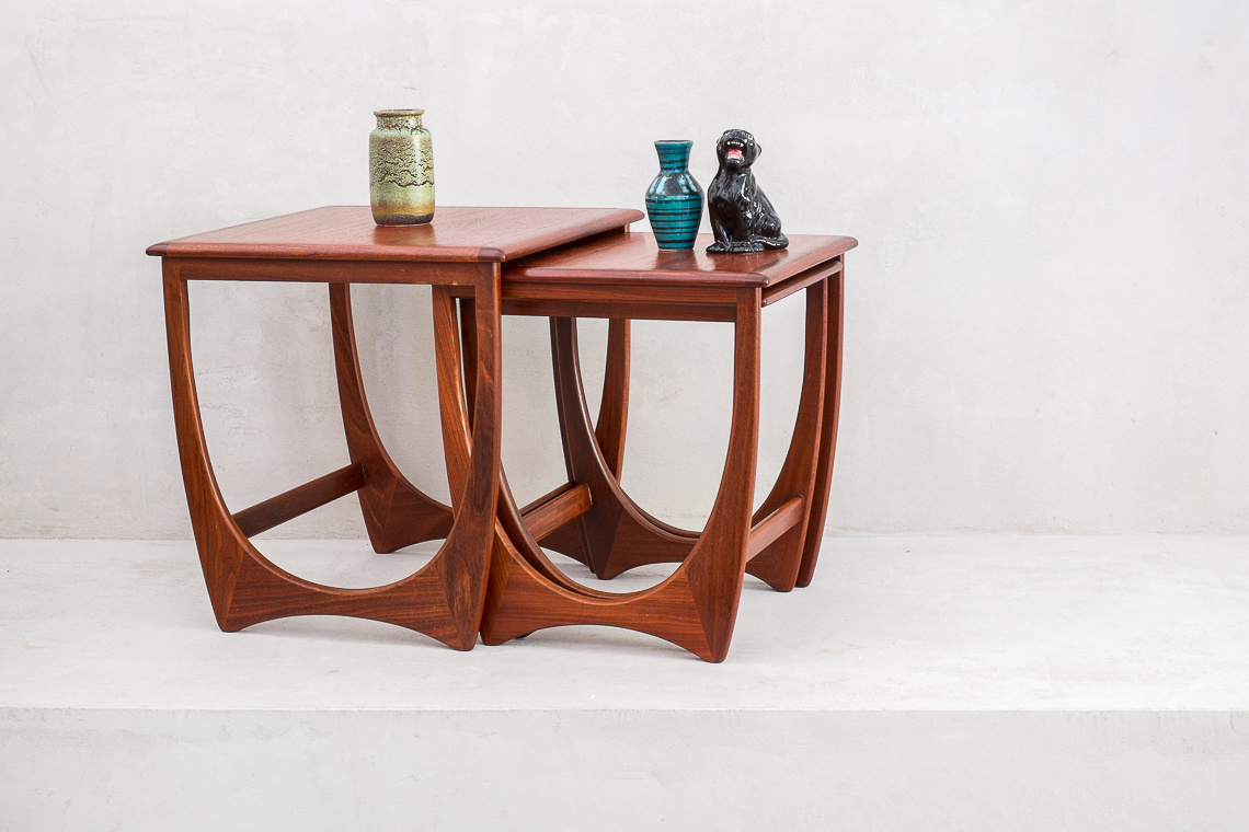Fresco Nesting Tables by V.B. Wilkins for G-Plan, 1970s