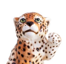 small leopard (20CM) ITALIAN CERAMIC SCULPTURE