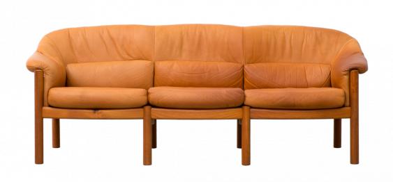Leather Danish Sofa by  Skippers Furniture