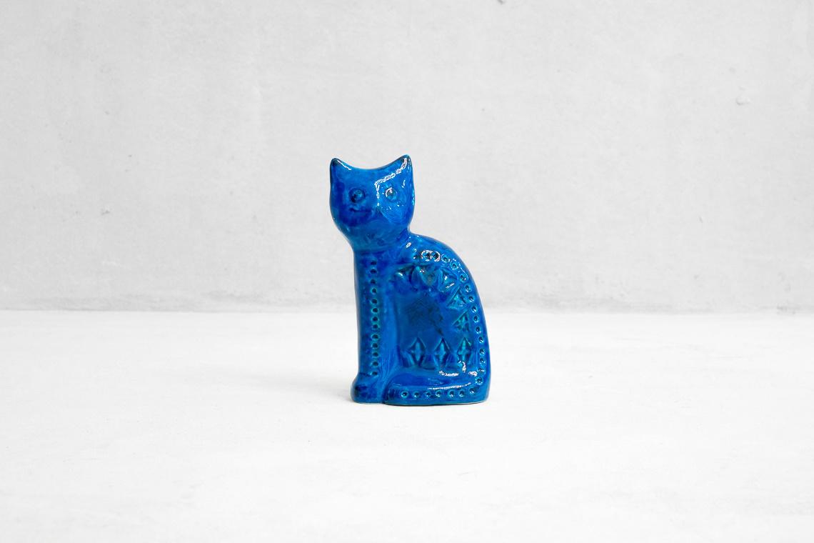 ALDO LONDI RIMINI BLU CERAMIC CAT FOR BITOSSI