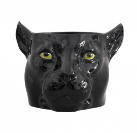 BLACK Panther BIG Flower Pot (Ø25CM) Italian Ceramic