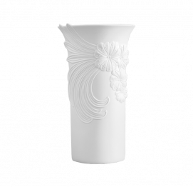 West Germany Mid Century White Porcelain Vase BY Manfred Frey for AK Kaiser