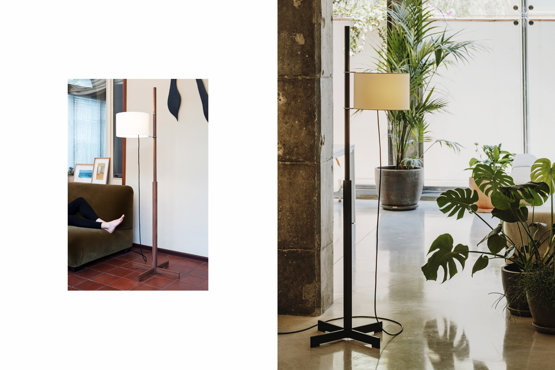 TMM OAK Floor Lamp by Miguel Milà for Santa & Cole