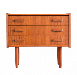 SMALL MID-CENTURY DANISH TEAK CHEST OF 3 DRAWERS FOR Ejsing Møbelfabrik