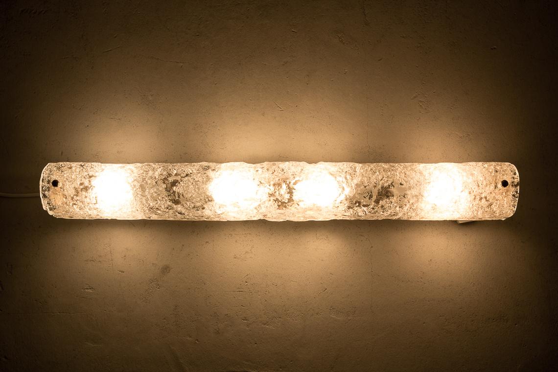 Murano Ice Glass Wall Light from Hillebrand