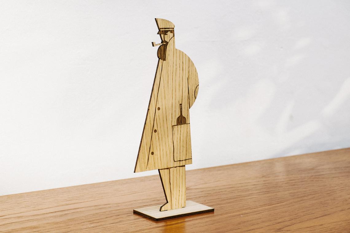 sailor oak wood figure by iker ayestaran