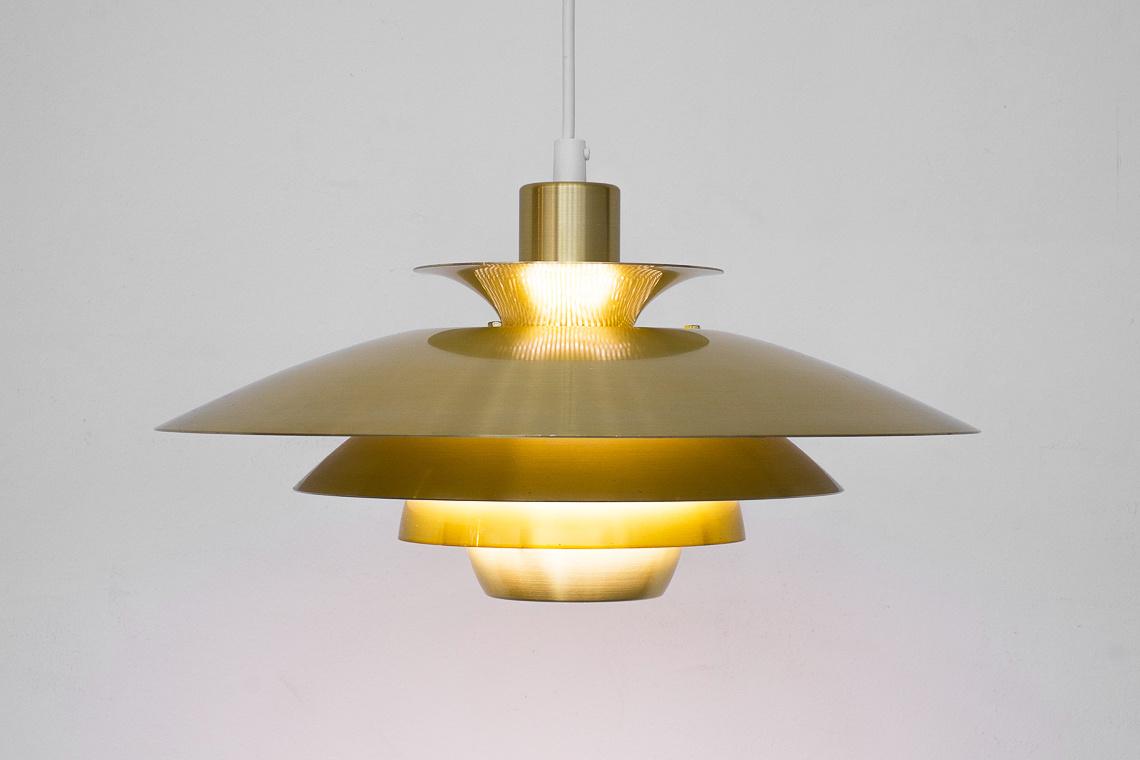 BRASS DANISH ALEXIA PENDANT LAMP BY JEKA