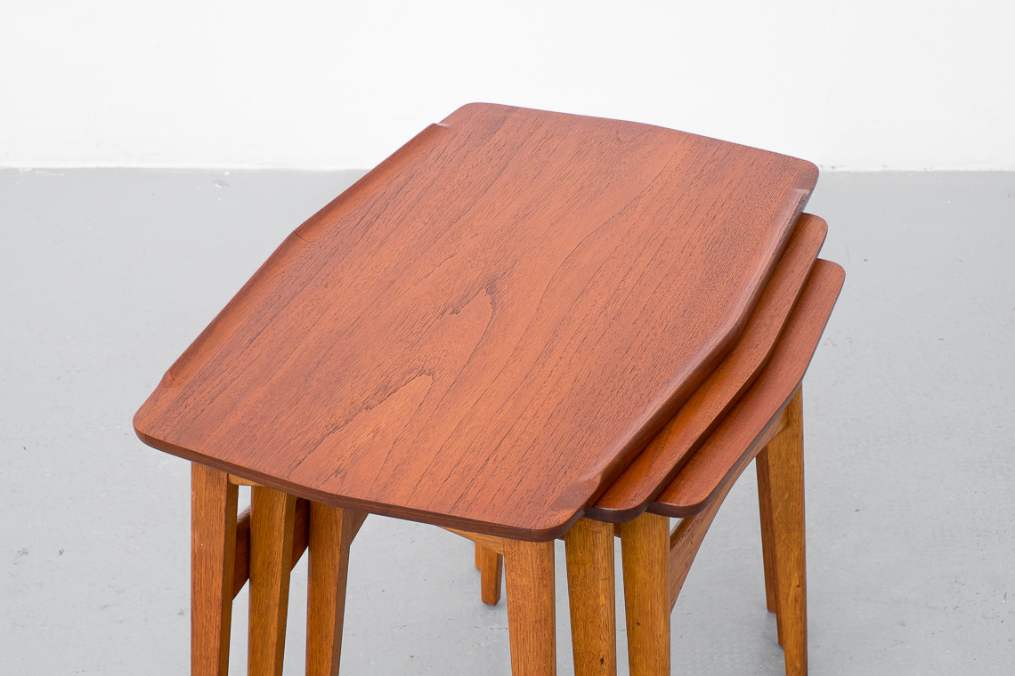 Mid Century Modern Danish Nesting Tables
