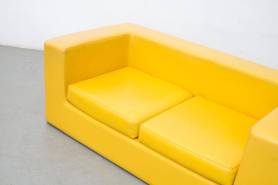 Yellow Sofa Throw Away by Willie Landels for Zanotta