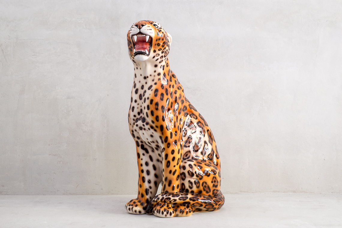 JAGUAR (86CM) ITALIAN CERAMIC SCULPTURE