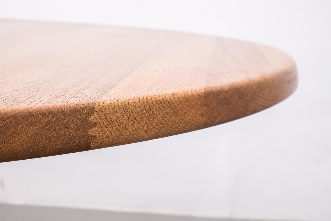 CIRCULAR EXTENDING DINING TABLE BY Glostrup Møbelfabrik DENMARK
