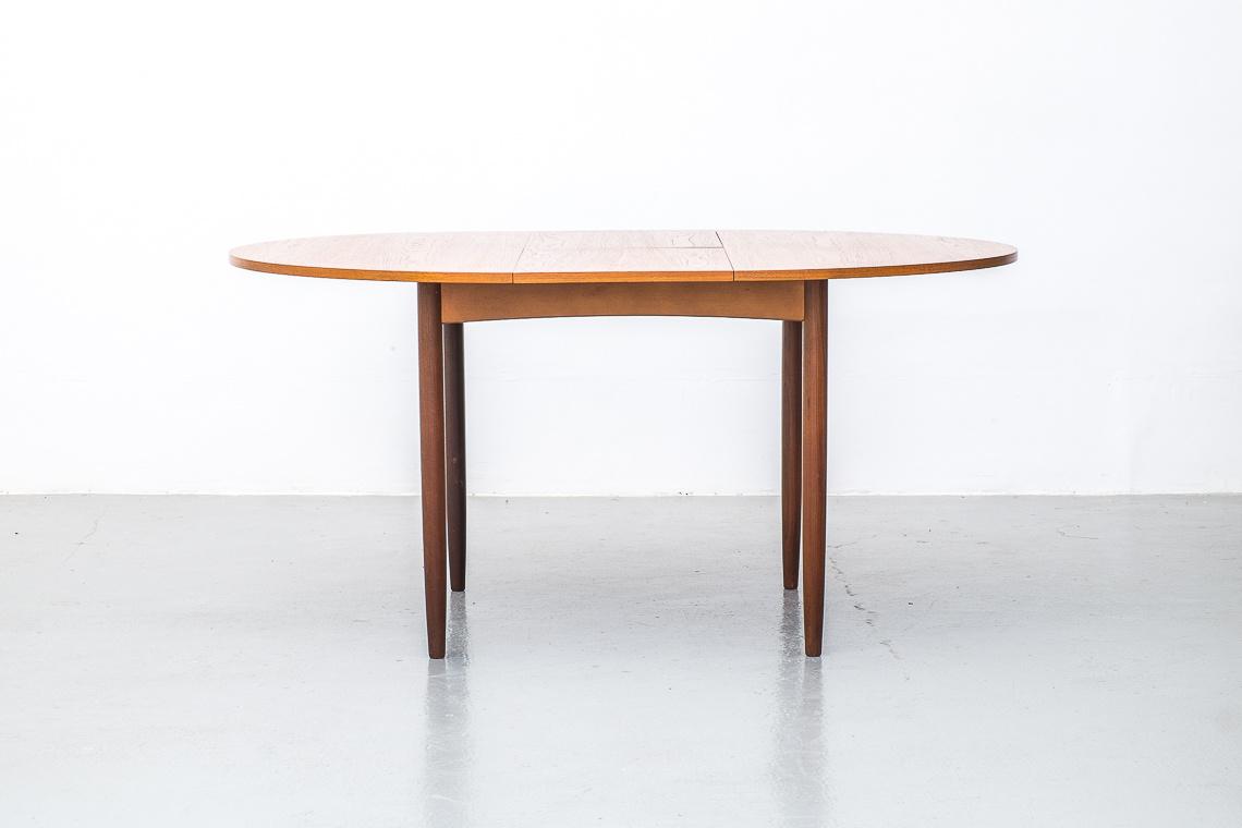G Plan Teak Round Extending Dining Table