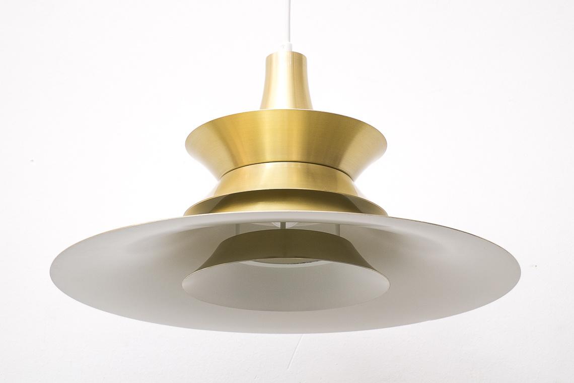 Gold Pendant lamp by Bent Nordsted for Lyskaer Belysning