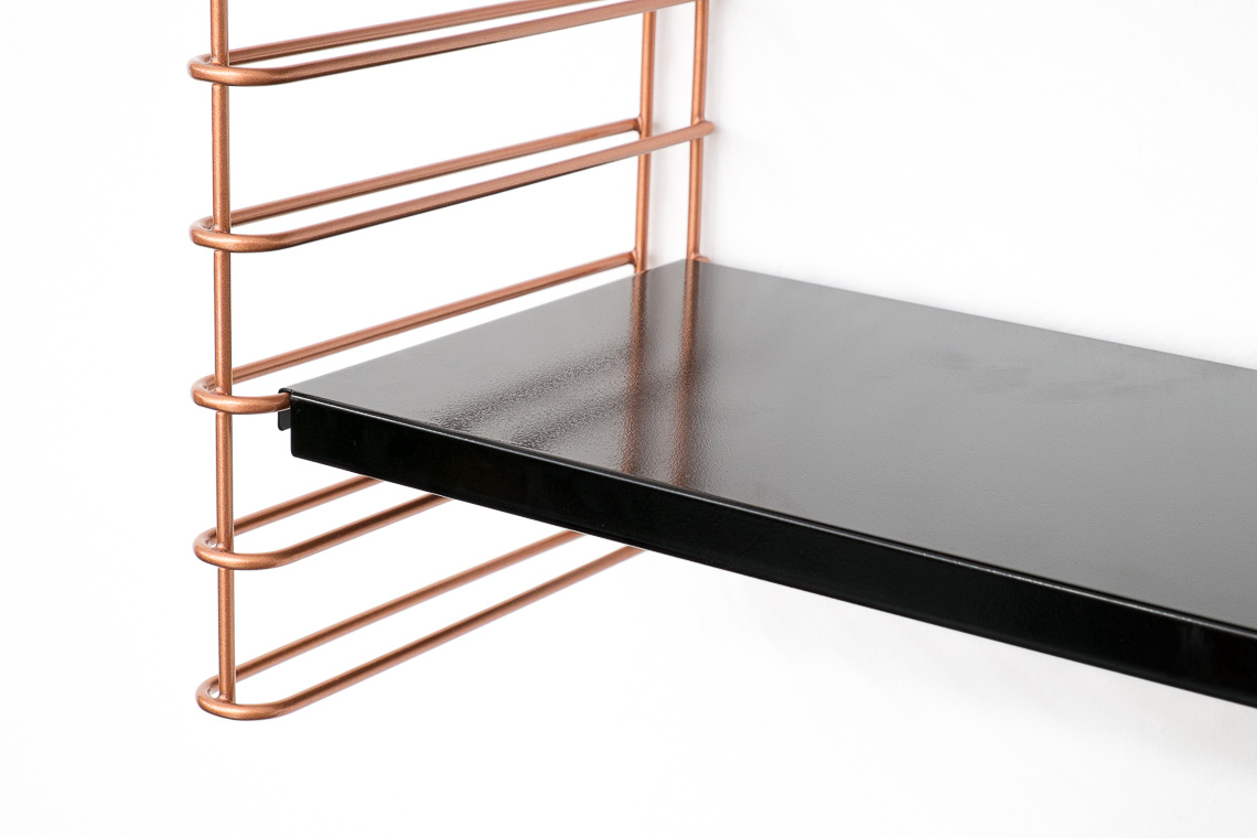 TOMADO Shelving in Copper & black