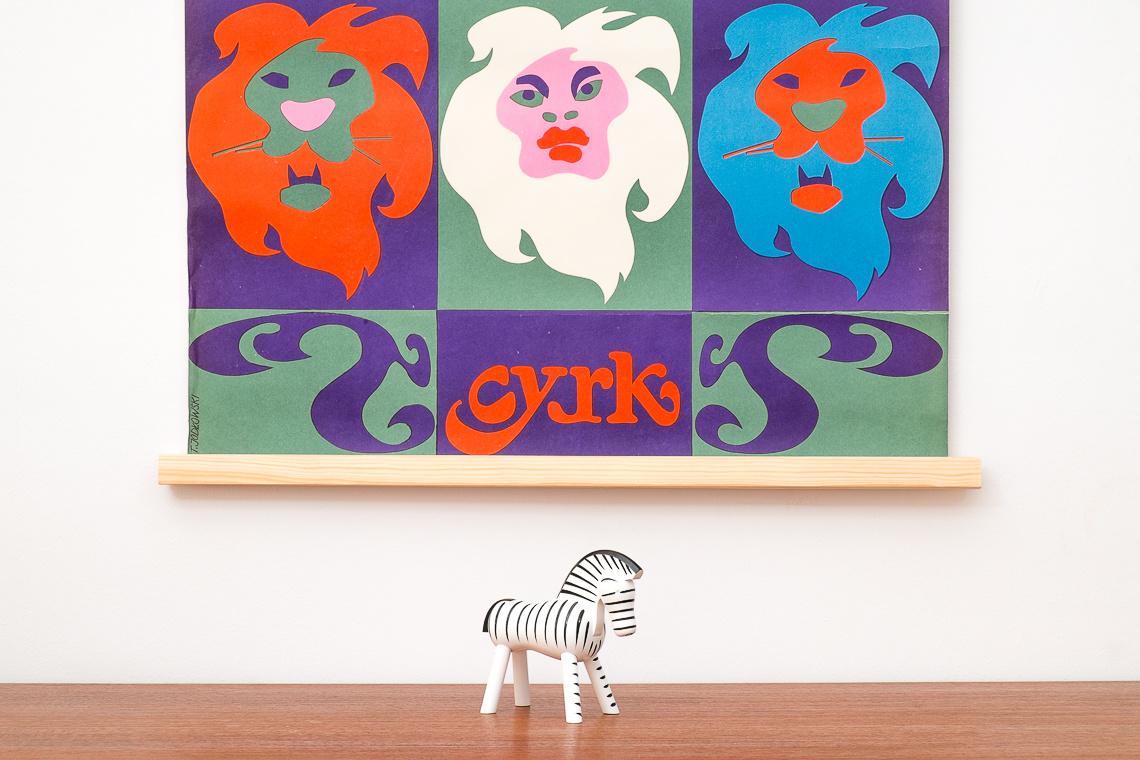 ORIGINAL cyrk Polish poster by Tadeusz Jodlowski