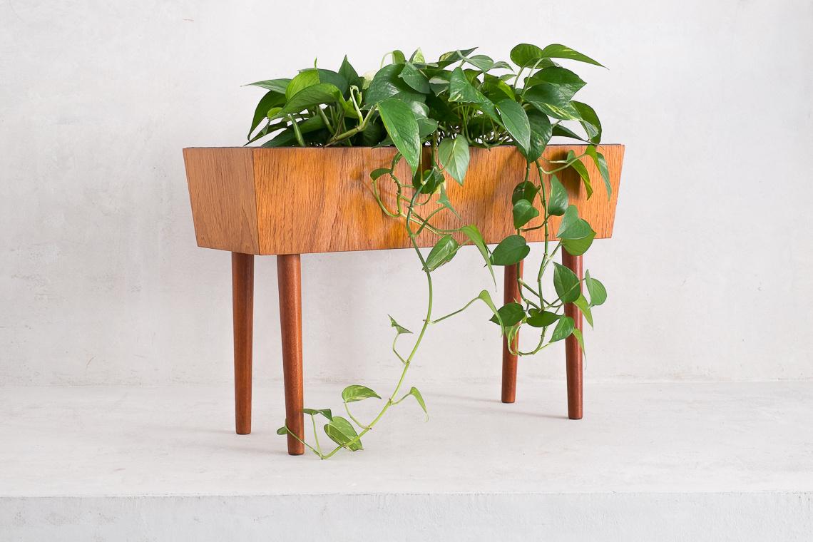 Danish teak plant pot 1960s