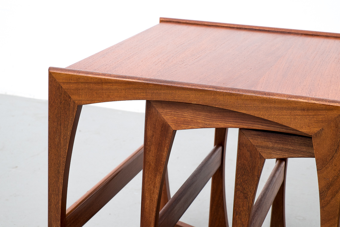 Quadrille Teak Nesting Tables by Robert Bennett for G-Plan