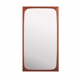 Danish teak mirror from AG Spejl